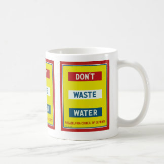 Don't Waste Water Basic White Mug