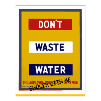 DON'T WASTE WATER POSTCARD