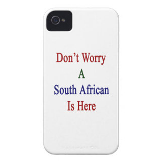 Don't Worry A South African Is Here iPhone 4 Case-Mate Cases