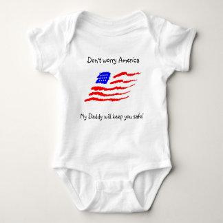 Don't worry America Baby Bodysuit