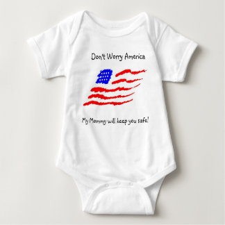 Don't Worry America Baby Bodysuit