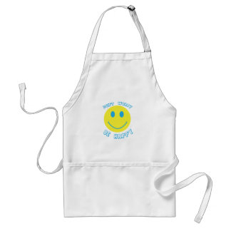 Don't worry be happy aprons