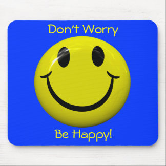 Don't Worry Be Happy! Big Smiley Face Mousepad Mouse Pad
