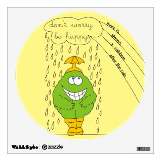 Don't Worry Be Happy Funny Creature in Rain