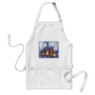 don't worry be happy humor standard apron