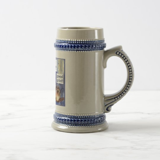 don't worry be happy humour beer stein