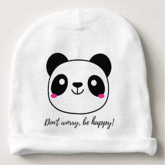 Don't Worry, Be Happy! Slogan Baby Beanie