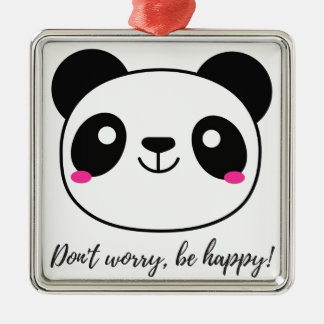Don't Worry, Be Happy! Slogan Christmas Ornament