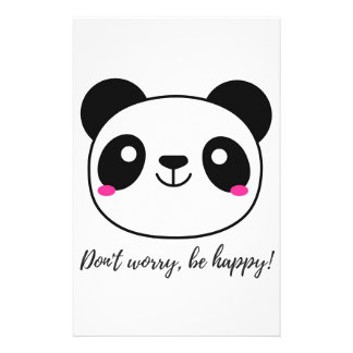 Don't Worry, Be Happy! Slogan Stationery