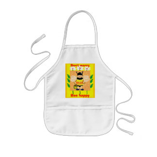 Don't worry, Bee happy Kids Apron