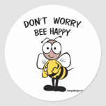 Don't Worry Bee Happy Stickers