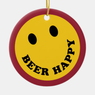 Don't Worry Beer Happy Christmas Ornament