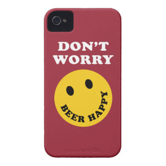 Don't Worry Beer Happy iPhone 4 Case