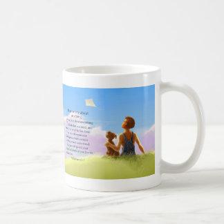 Don't Worry (boy & dog) Classic White Coffee Mug