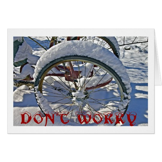 Don't Worry Christmas Card with Bike