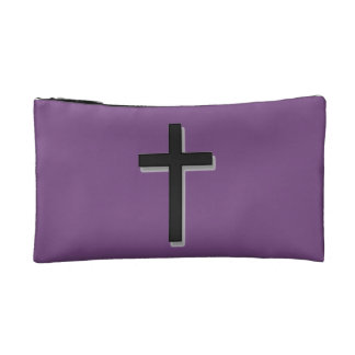 Don't Worry Cosmetic Bag w/Black Cross