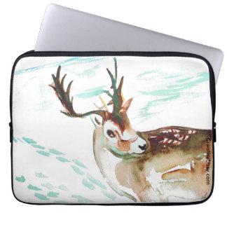 "Don't Worry Deer - 13"" Laptop Case"