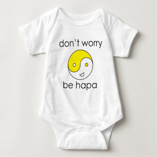 dont worry face baby bodysuit
