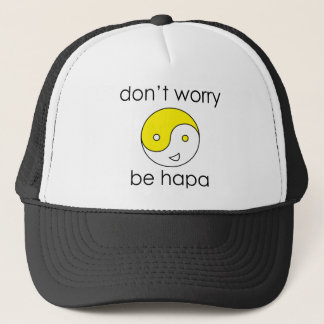 dont worry face trucker hat