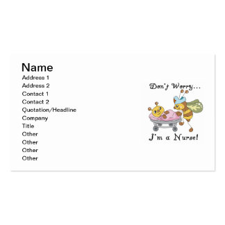 Don't Worry I'm a Nurse T-shirts and Gifts Business Card Template