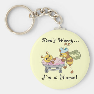 Don't Worry I'm a Nurse Tshirts and Gifts Basic Round Button Key Ring