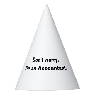 Don't Worry I'm an Accountant Party Hat