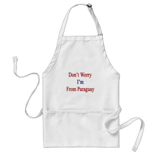 Don't Worry I'm From Paraguay Adult Apron