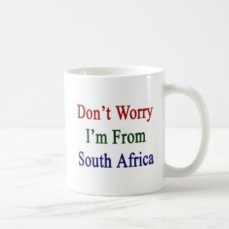 Don't Worry I'm From South Africa Basic White Mug