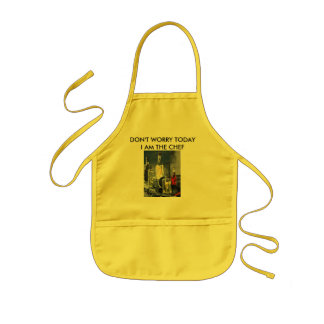 Don't Worry, Today I'm The Chef ! Kids Apron