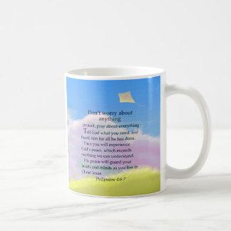 Don't Worry Verse Basic White Mug