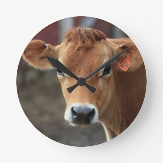 Don't you think I'm Pretty Jersey Cow Round Clock