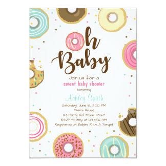 Donut Baby shower invitation Coed shower Doughnut
