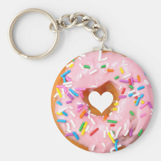 Donut Basic Round Button Key Ring