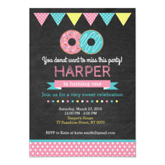 Donut Birthday Invitation