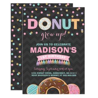 Donut Birthday Invitation Donut Grow Up Party
