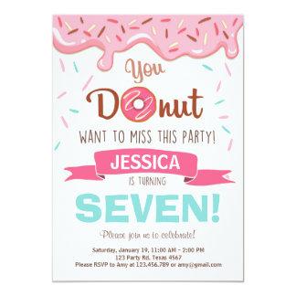 Donut Birthday Party Invitation doughnut Party