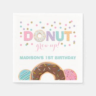 Donut Birthday Party Napkin Donut Grow Up Party Disposable Napkin