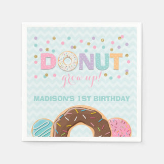 Donut Birthday Party Napkin Donut Grow Up Party Disposable Serviettes