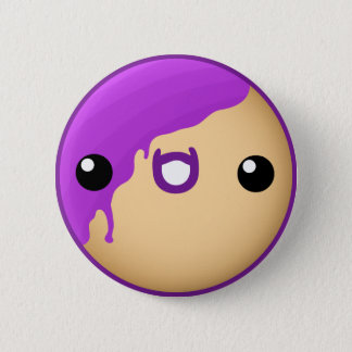 Donut Button Purple
