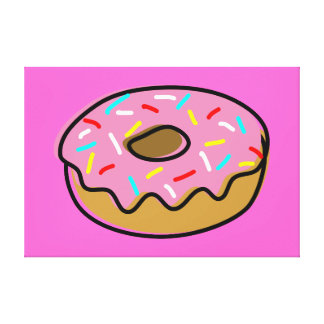 Donut Gallery Wrap Canvas