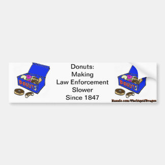 Donut/Cop History Bumper Sticker