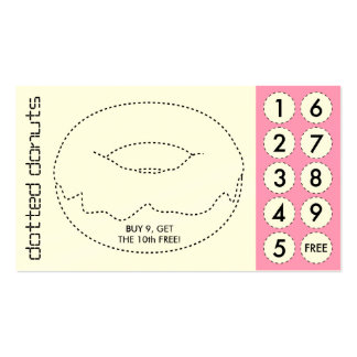 donut cut out punch cards pack of standard business cards