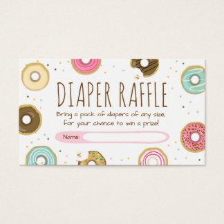 Donut Diaper Raffle card Doughnut Sprinkle Diapers