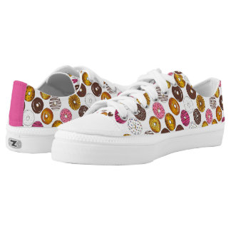 Donut Doughnut Pattern Donuts Print Sneakers