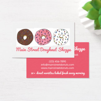Donut Doughnuts Sprinkles Bakery Baked By Pastry Business Card