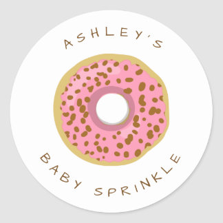 Donut Envelope seal sticker Baby sprinkle Doughnut