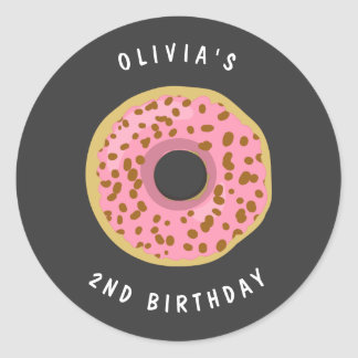 Donut Envelope seal sticker Birthday Girl Doughnut