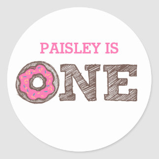 Donut First Birthday Sticker