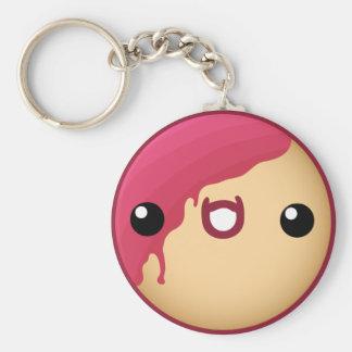 Donut Keychain Red