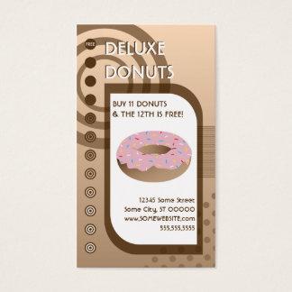 donut loyalty pink sunrise business card
